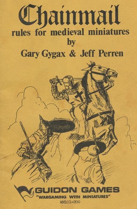 Gary Gygaxin ja Jeff Perrenin Chainmail-miniatyyritaistelusäännöt julkaistiin ensimmäisen kerran 1971.