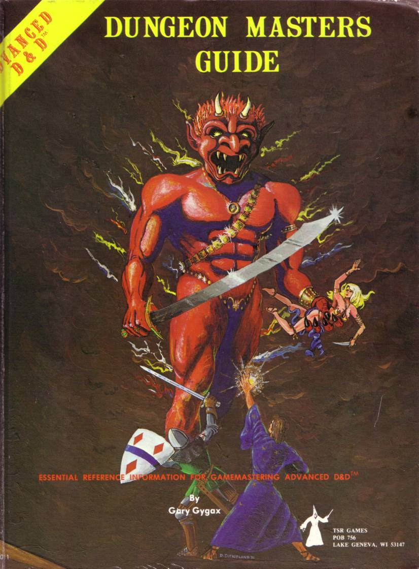 """Demoni näyttää seikkailijoille """"taivaan"""" merkit. David Sutherlandin taidetta."""