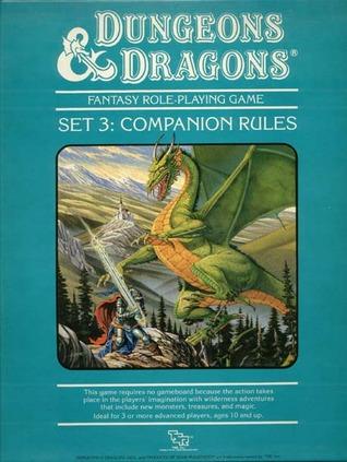 Frank Mentzerin kirjoittaman Dungeons & Dragons Companion Setin kannessa komeilee Larry Elmoren maalaama lohikäärme.