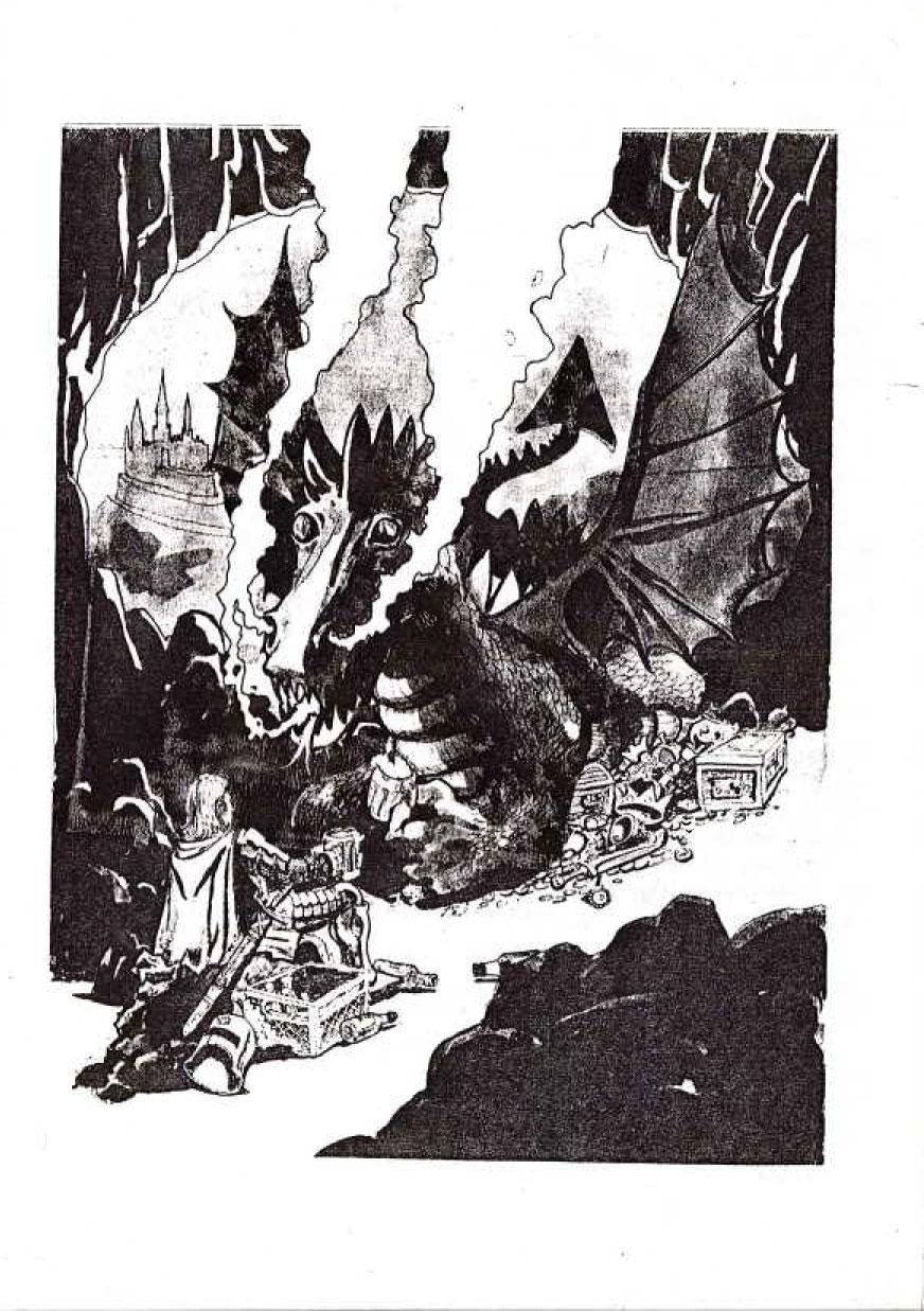 Oli Aciremassakin lohikäärmeitä! Jari Koiviston taidetta Raguocin/pelinjohtajan kirjan takasivulta.