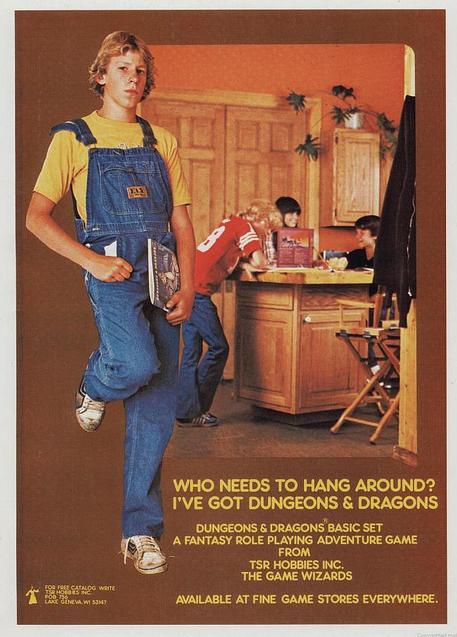 Lupaus paremmasta ja hienommasta vai kaiken pahan alku ja juuri? D&D-mainos 1980-luvulta.