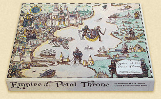 Empire of the Petal Thronen ensimmäinen laitos. Kuva: http://www.tekumel.com/