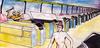 Ilmeisesti AD&D:n tutun David C. Sutherland, III:n taidetta alkuperäisestä Metamorphosis Alphasta.
