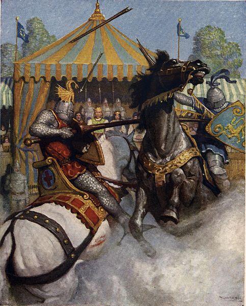 Elysian parhaat ritarit mittelevät voimiaan peitsiotteluissa. Taide: