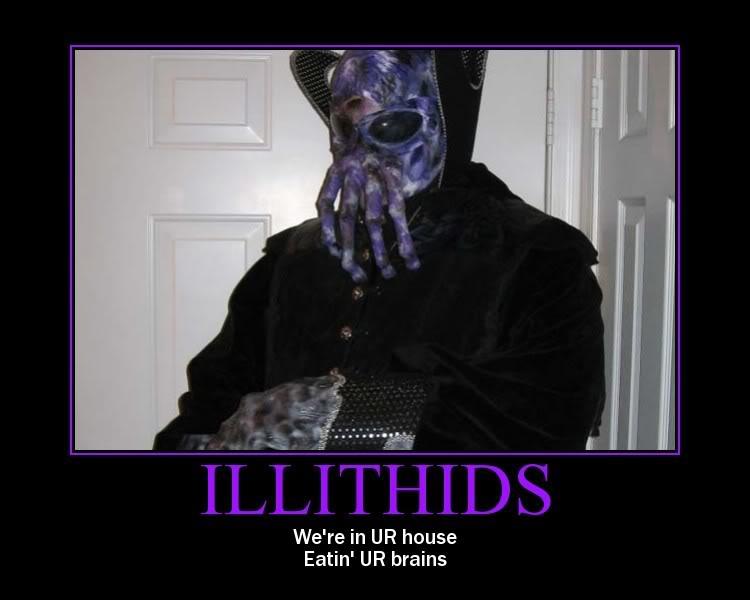 Illithidien kanssa ei ole leikkimistä. Kuva: @Ulmo@ / Virgilio Forum
