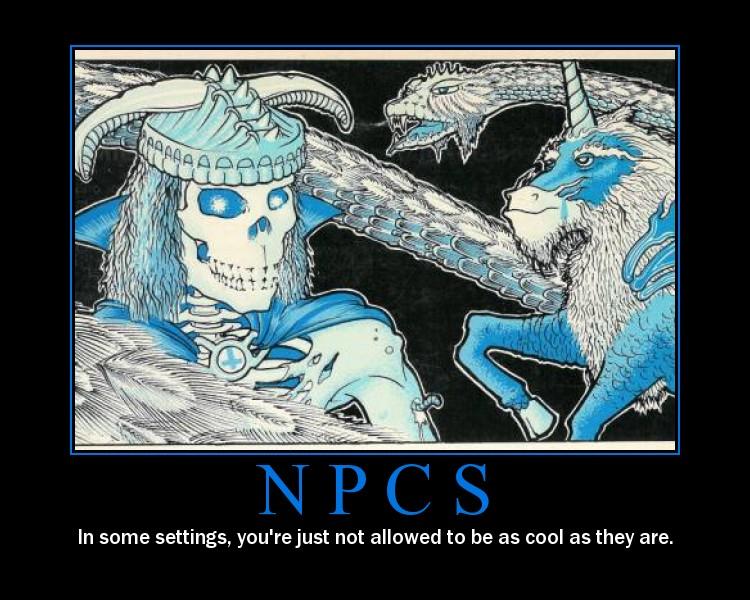 NPC:t ovat viileitä. Kuva: