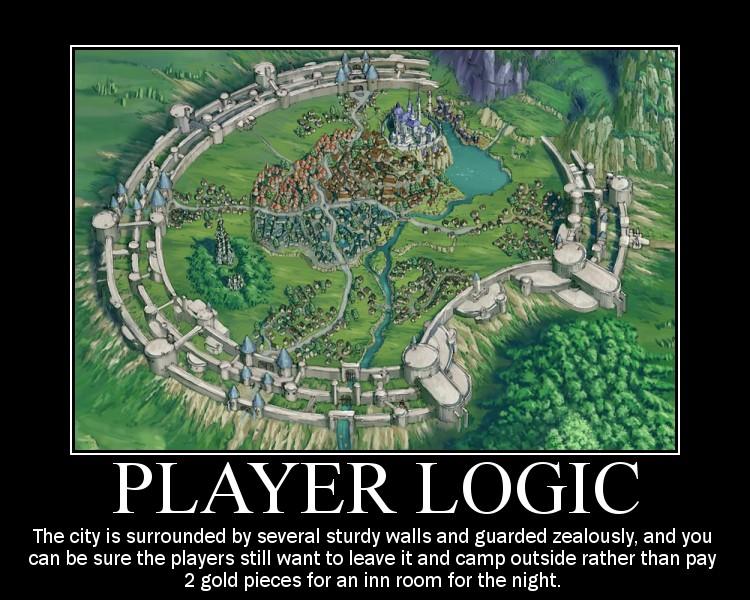 Pelaajien logiikka on välillä ihmeellistä. Kuva: Wintercat / RPG.net