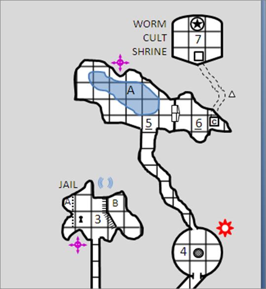 Luolastokarttojen piirtäminen onnistuu myös Power Pointilla. Kuva: Roles, Rules & Rolls