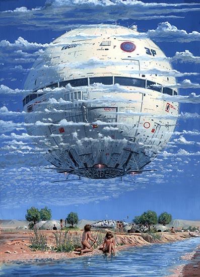 Peter Elsonin taidetta SF Magazinessa. Kuva: