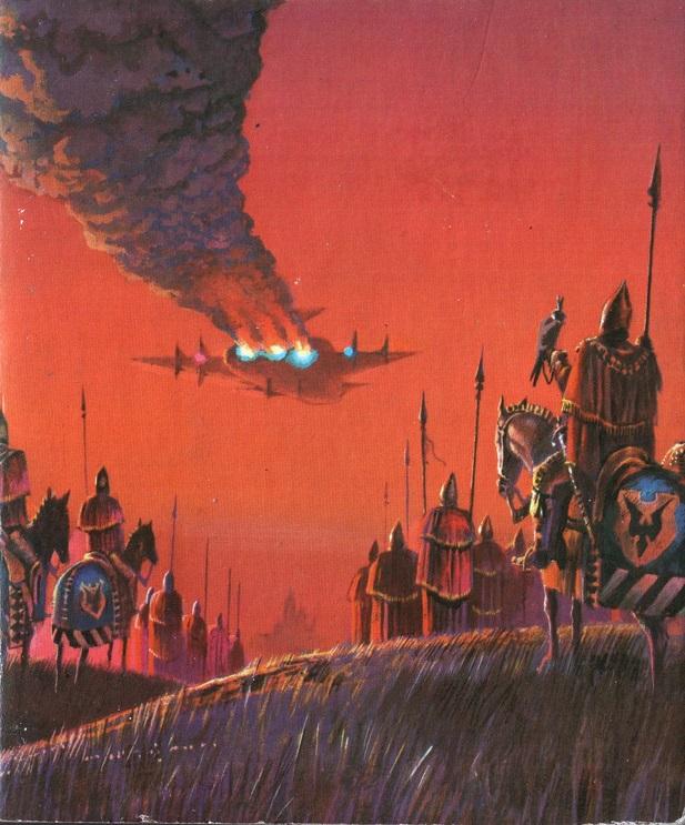 Bruce Penningtonin taidetta Laurence James: Earth Lies Sleeping, 1974. Kuva: 70s Sci-fi Art