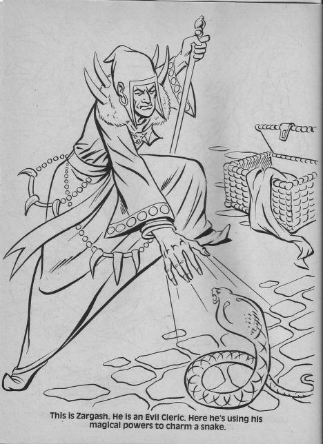 Advanced Dungeons & Dragons Characters Coloring Book (TSR, 1983)