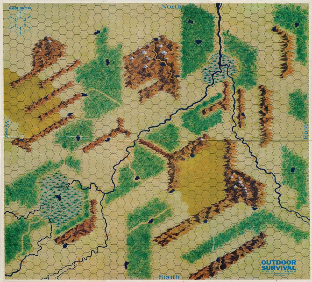 Outdoor Survivalin alkuperäinen kartta. Kuva: Pinterest / Matt P