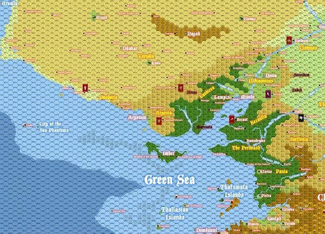 John Stater tekee paitsi kiinnostavia heksakuvauksia, myös mukiinmeneviä karttoja. Kuva: Land of NOD